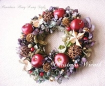 Preserved flower wreath